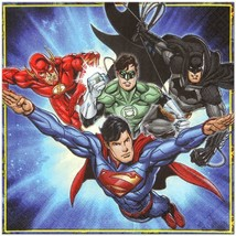 Justice League Birthday Party Lunch Dinner Napkins 16 Per Package by Ams... - $5.20