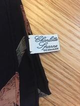 Charlotte Sparre of Denmark rectangular silk scarf (Black with Seals) image 3