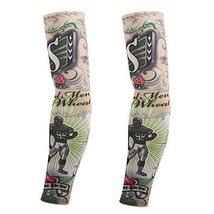 PANDA SUPERSTORE 1-Pair Baseball Fake Tattoo Sun Sleeves Body Art Arm Covers for