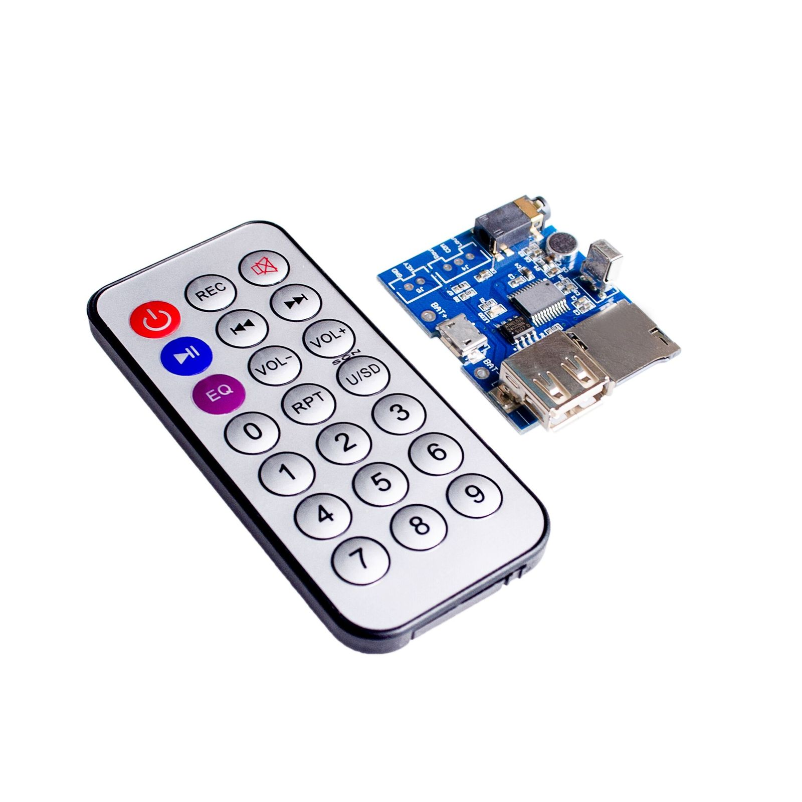 5sets lot mp3 wav wma decoder board 2w amplifier tf card audio aux with remote control