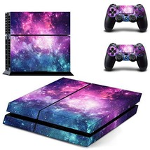 UUShop Purple Starry Galaxy Vinyl Skin Decal Sticker Cover Set for Sony PS4 - $25.00
