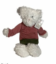 Baby Boyds White Teddy Bear Plush Rattle Stuffed Animal With Outfit Skirt Shirt - $22.99