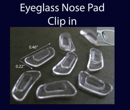 Eyeglass NOSE PADS rectangle SILICONE push in  clip on US Seller - $1.87+