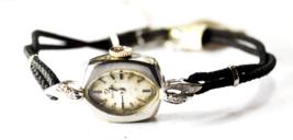 Vintage Women's Omega 14k Solid Gold AA7642 Wristwatch 484 Diamond 14mm - $148.49