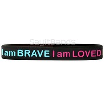 Set of I Am Strong I Am Brave I Am Loved I Am Enough Wristband Bracelets... - $4.83+