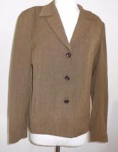 Rafaella 6 Petite Brown Jacket Blazer Coat Offi... - $15.90