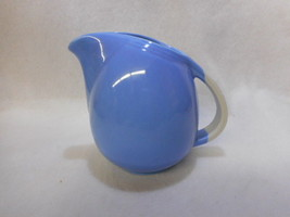 """Hall Pottery Blue and White ROSE PARADE 5 1/4"""" JUG/ PITCHER 1259 - $24.75"""