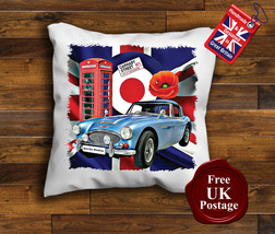 Austin Healey Cushion Cover, Austin Healey, Union Jack, Mod, Target, Poppy, C... - $9.01+