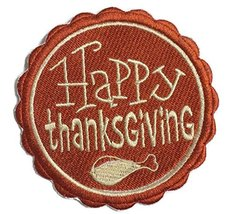Custom And Unique Happy Thanksgiving[ Happy Thanksgiving Stamp]Embroider... - $7.91