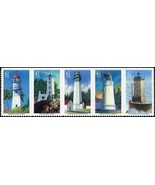 2007 41c Pacific Lighthouses, Strip of 5 Scott 4146-50 Mint F/VF NH - $3.49