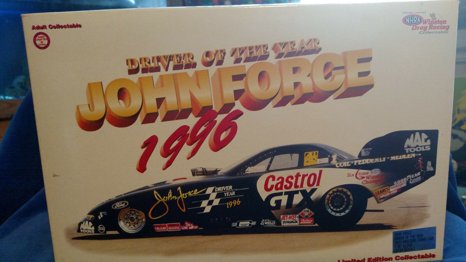 Primary image for 1:24 1997 ACTION NHRA CASTROL GTX FUNNY CAR JOHN FORCE 1996 DRIVER OF THE YEAR