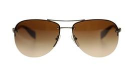 Prada Men's Sunglasses PS56MS 5AV6S1 Gunmetal/Brown Gradient Lens Aviator - $163.93