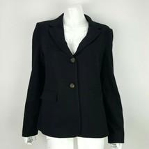 Premise Sz 10 Womens Solid Black Blazer Jacket Lined w/ Pockets Soft Ray... - $17.59