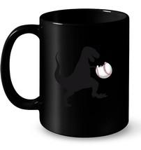 Dino T Rex Hates bites Softball Baseball Ball Ceramic Mug - $13.99+