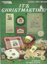 It's Christmastime in Counted Cross Stitch Leisure Arts 354 1985 29 Designs - $5.93