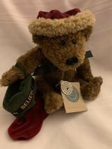 """Boyds Bears Santa Bell Elvin Q Elfberg Teddy Bear Believe Velvet Stocking 10"""" - $18.49"""