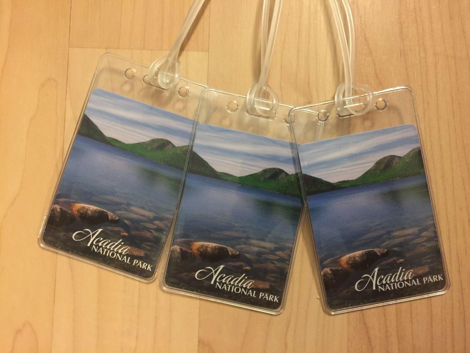 Acadia National Park Targhette Bagagli - BAR Porto Maine USA Carte da Gioco di