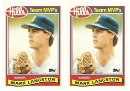 (2) 1989 Topps Hills Team MVP's Baseball #19 Mark Langston Card Lot Mari... - $2.49