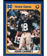 1990 Collegiate Collection Notre Dame #29 John Carney NM Near Mint - $0.75