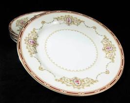 Noritake Nippon Toki Kaisha Pattern #1802 Salad Plates (4) Gold Trim - $16.00