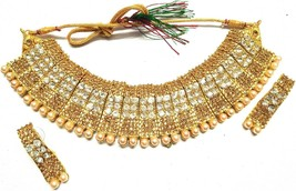 Indian 22K Gold Plated Bollywood Women Jewellary Gorgeous Necklace Earri... - $9.89