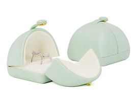Small Faux Leather Wedding Jewelry Box Organizer- Wedding Jewelry - Sage green image 7