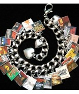 STEPHEN KING Book Charms Bracelet 17 Gorgeous book Cover Photo Charms - $27.99