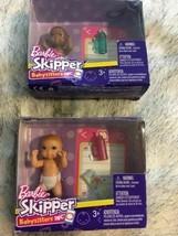 Mattel Barbie Skipper Babysitters Inc Lot of 2 Dolls Babies NIP SKU 067-094 - $14.49