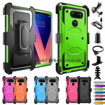 For LG V30/V30+ Plus Phone Case Shockproof Holster Belt Clip Hard PC Arm... - $24.00
