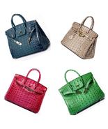 35 cm Crocodile Embossed Italian Leather Birkin Style Handbag Shoulder B... - $174.95