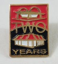 McDonald's Pin Employee Two Years Service Enamel Lapel Pin - $5.89