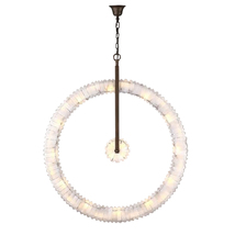 "AM7400: Mathieu Lustrerie ""Lustre Orbite"" Crystal Chandelier (28""-48"" W) $2,320+ - $3,950.00"