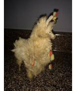 Vintage Native American/South American Made Tan Alpaca Llama Toy Stuffe... - $15.00