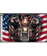BIKER FLAG GREAT AMERICAN HOG  UTV/ATV novelty flag 3 X 5 - $13.85