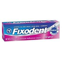 Fixodent Complete Original Denture Adhesive Cream 0.75 Oz (Pack of 4) - $8.88