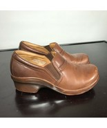 ARIAT Women's Brown Leather Clogs Closed Back Size 7.5.  Nice! - $26.73