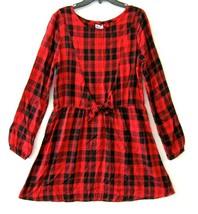 Epic Threads Nwt Grand Robe Fille Tango Rouge Long Manche Taille L Plaid... - $29.73