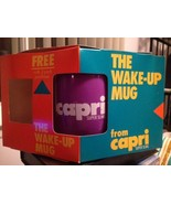 Capri Super Slims Purple The Wake Up Mug Coffee Cup Vintage Resin Therma... - $14.99