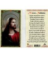 A Savior Meditation Laminated Prayer Card - Item EB403  Get a Kiss From ... - $2.23