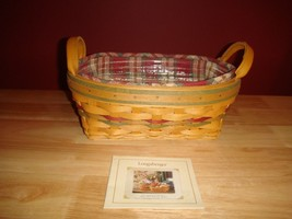 Longaberger 2001 Autumn Reflections Small Daily Blessings Basket Combo  - $38.49