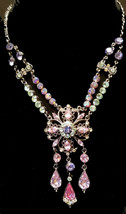 Beautiful Multi Colored Crystal Necklace - $42.00