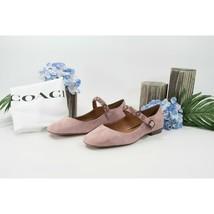 Coach Dusty Rose Flower Stud Suede Leather Mary Jane Flat Size 9.5 NIB - $133.16