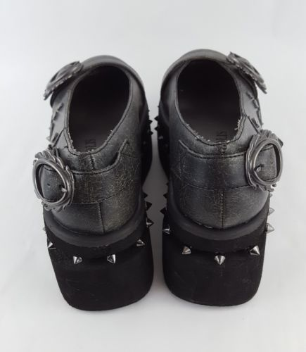 Metropolis Steampunk KittyHawk Shoes Spike Gray Flats 7
