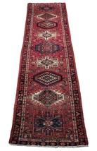 Red 3 x 13 All-Over Classic Tribal Design Runner Karaja Persian Handmade Rug image 1