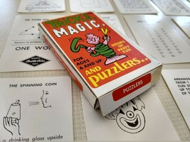 Vintage Tricks Magic and Puzzlers 20 Cards Built Rite Toy - $11.87