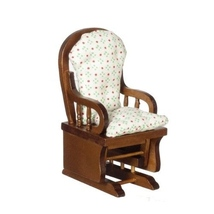 Dollhouse Miniatures Walnut Glider Rocker #T6559 - $16.99