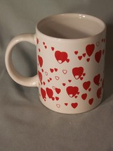 "Lots of Hearts coffee cup approx 3.75"" tall - $5.10"