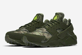 Nike Air Huarache Run Camo Cargo Khaki Running Men's Shoes AT6156 300 - $79.99