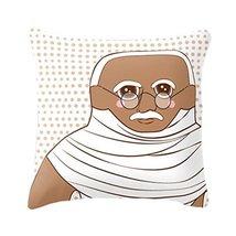 Hand Made Late Greats Pillow Gandhi 16x16 - $37.35