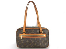 Authentic LOUIS VUITTON Monogram Canvas Leather Cite MM Shoulder Bag - $316.70